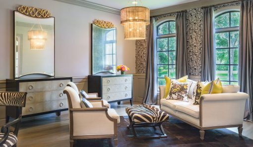 Dramatic Cobalt & Gold | Memorial Home Renovation | Houston, TX | 2016