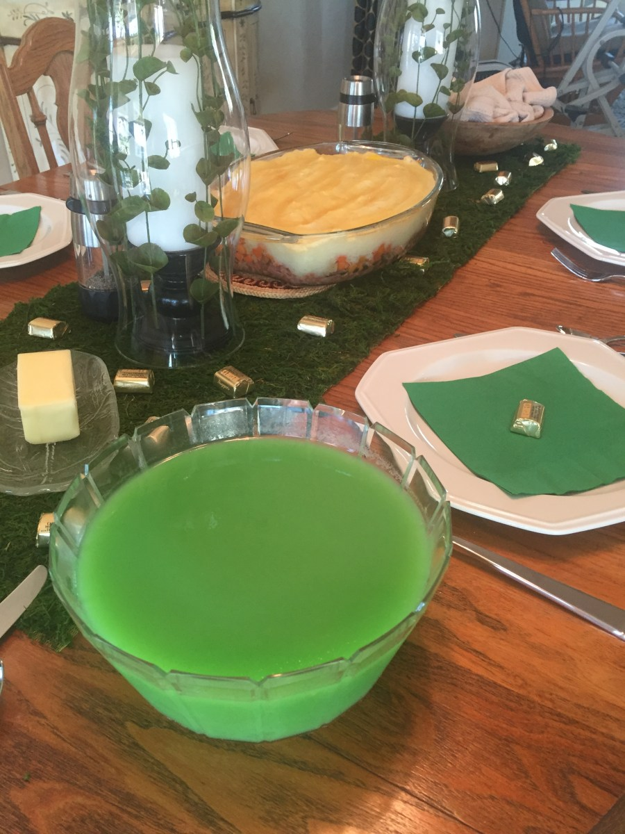 St. Patrick's Day Green Jello