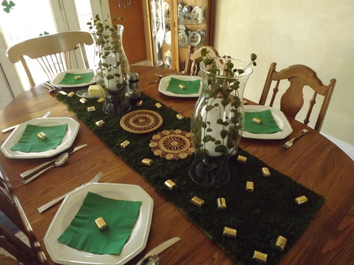 St. Patrick's Day dinner Party table scape by Sweet Lane Events