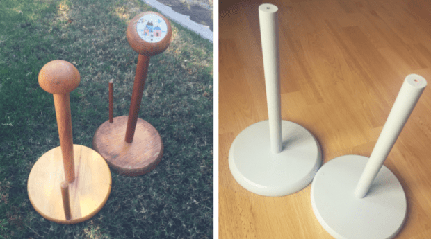 paper towel holders turned into donut stands