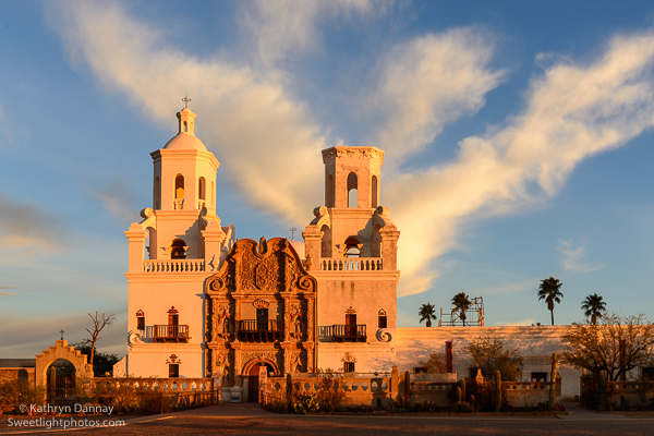 San Xavier Mission at Sunrise