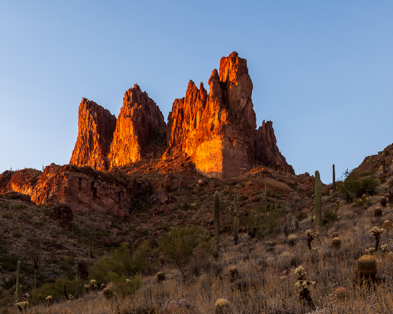 Three Sisters Aglow at Sunset