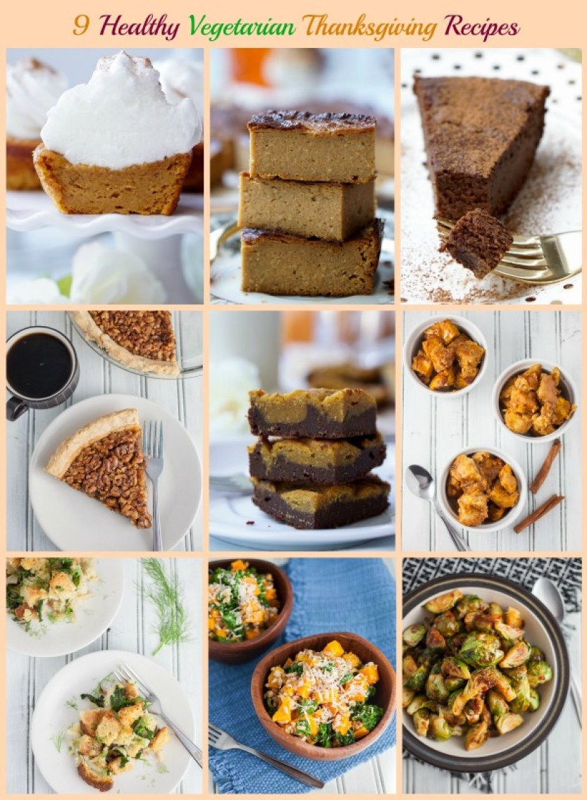 Healthy, Low-Calorie, Super-Easy and Super-Yummy Vegetarian Thanksgiving Recipes!