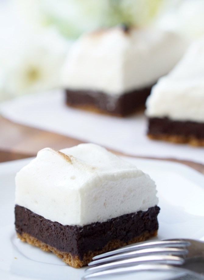 Six Healthy Low-Calorie Brownies recipes: Pumpkin, Sweet Potato, Banana, Strawberry, S'Mores and Berry Brownies! All-natural, easy to make and super-yummy!