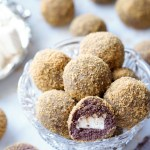 The Healthy S'Mores Cake Balls are extra-chocolatty and decadently fudgy. They're stuffed with all-natural, low-sugar Homemade Marshmallows and rolled in whole-wheat graham cracker crumbs! An easy, healthy treat to bring to a potluck or to enjoy as a guilt-free anytime dessert!