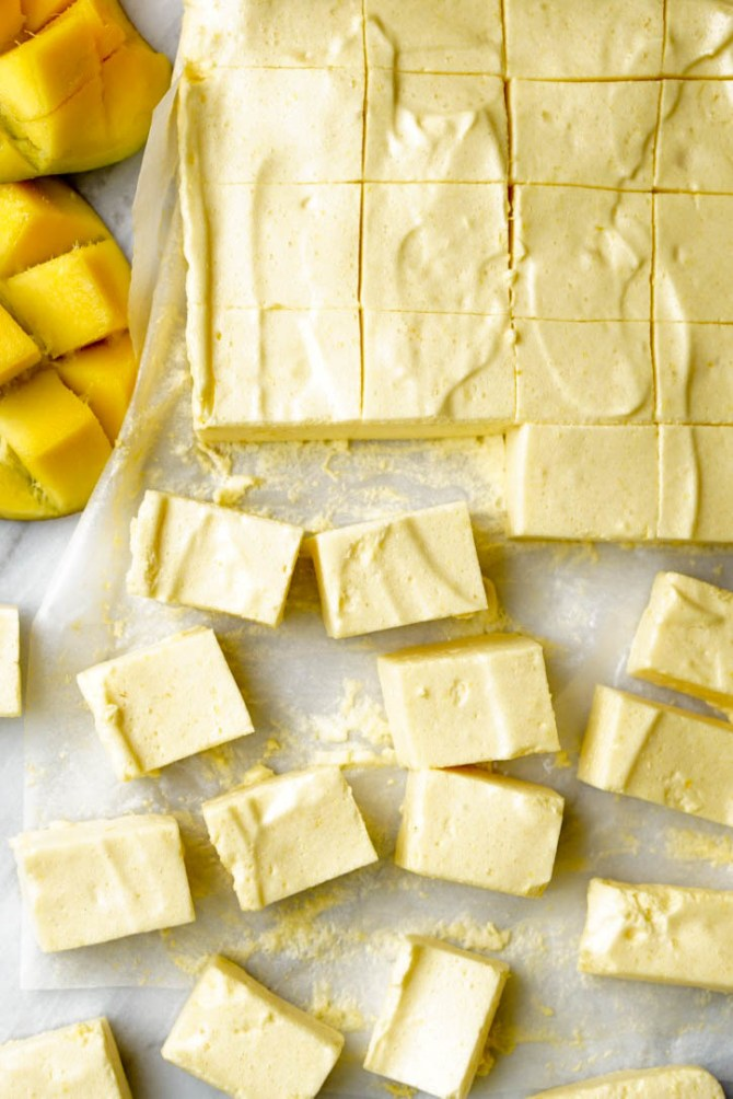 The Healthy Mango Marshmallows are fat-free, low-sugar and high protein! They are easy to make, extra-flavorful, low-calorie, and supper-yummy!