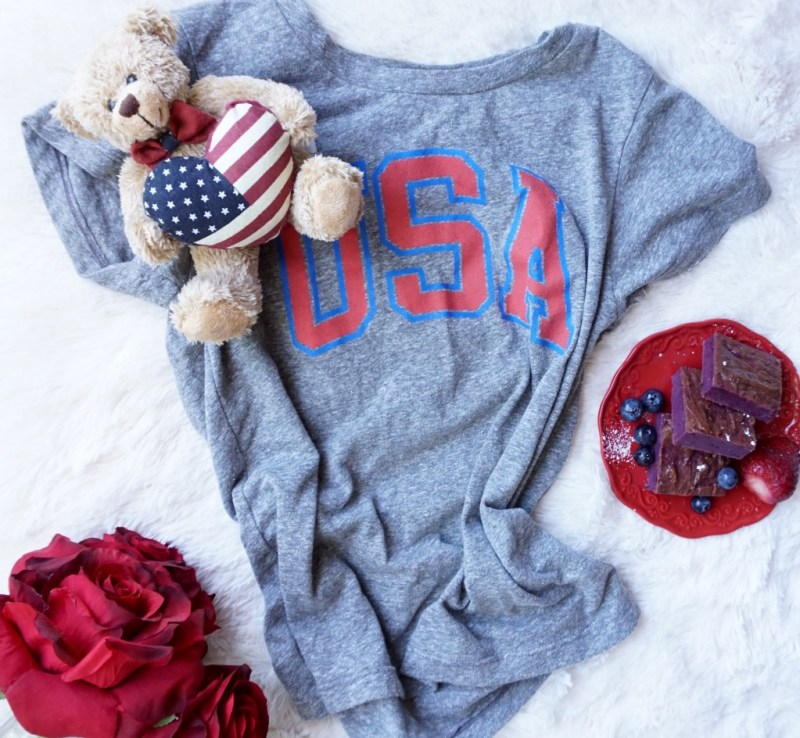 This Red White & Blue Outfit can be worn to an All-American Holiday barbecue, but because it is so classic and so comfortable you can wear it anytime and anywhere when you need to look casual, yet put together!