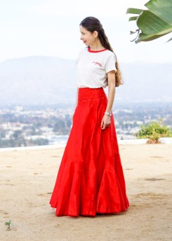 Red Maxi Skirt-22