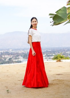 Red Maxi Skirt-23
