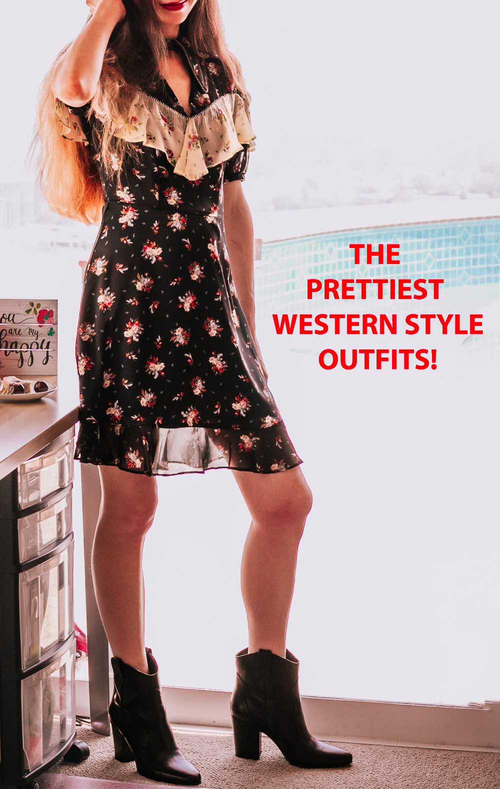 Western Dress and Cowboy Boots