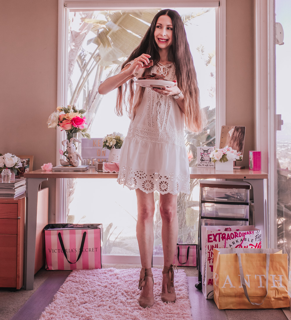 White Lace Dress and Lace-Up Espadrilles for Spring and Summer!
