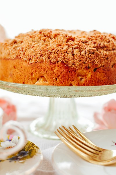 HEALTHY PEACH COFFEE CAKE!