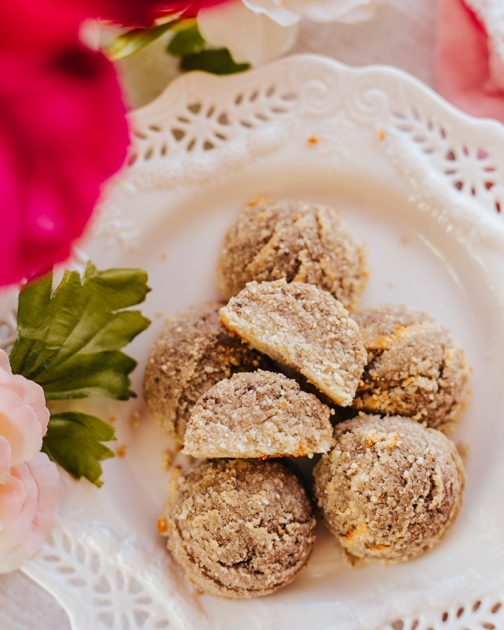 These Healthy All-Natural Sugar-Free Almond Cookies are all-natural, low-calorie, gluten-free, paleo, high in protein without protein powders, delicious and very easy to make!