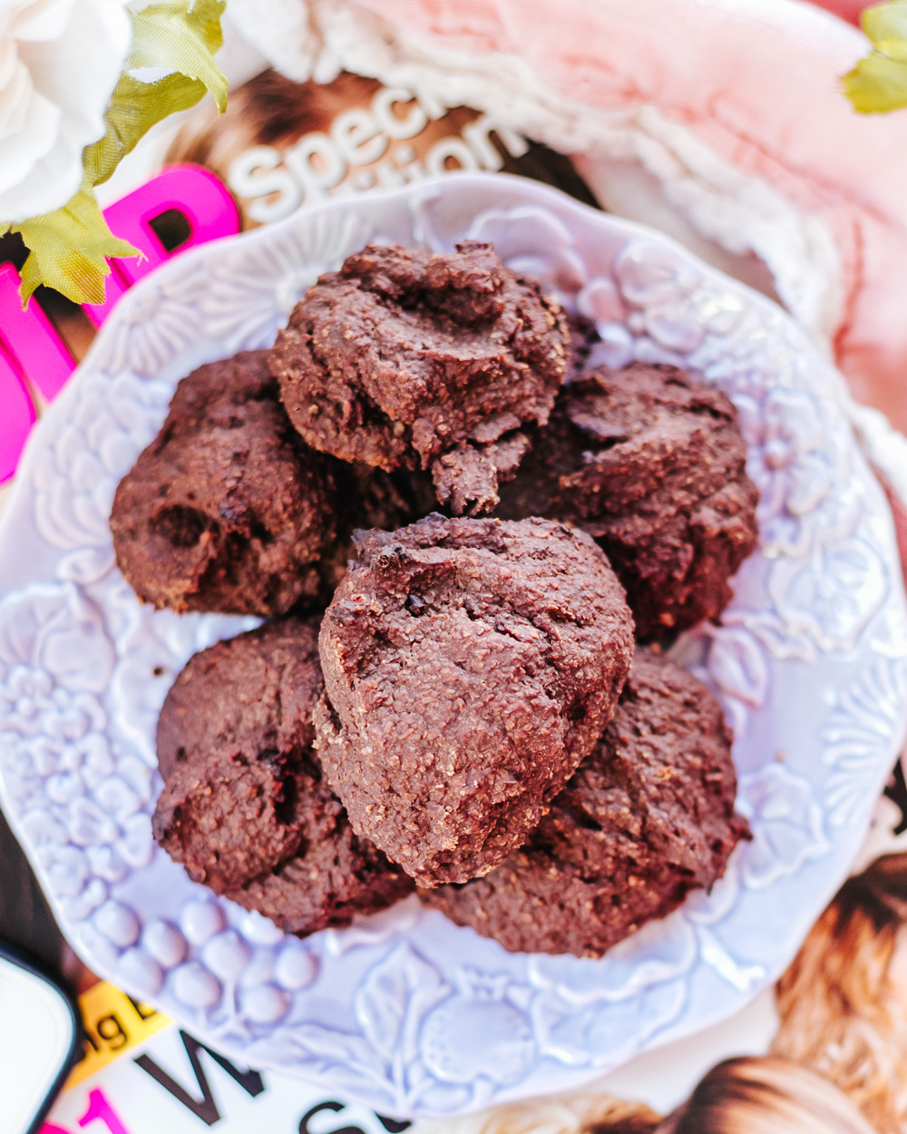 The Healthy Low Calorie Chocolate Bran Cookies are chewy, flavorful, nutritious, easy to make and completely guilt-free!