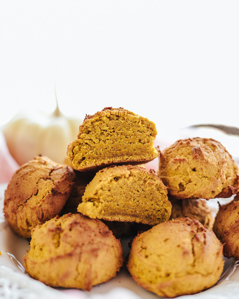 Healthy Pumpkin Cookies are all-natural, healthy, high in protein (no protein powders!), so easy and quick to make and so sweet and satisfying!