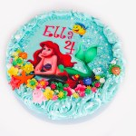 Little Mermaid Birthday Cake https://www.sweetmadnesscakes.com.au