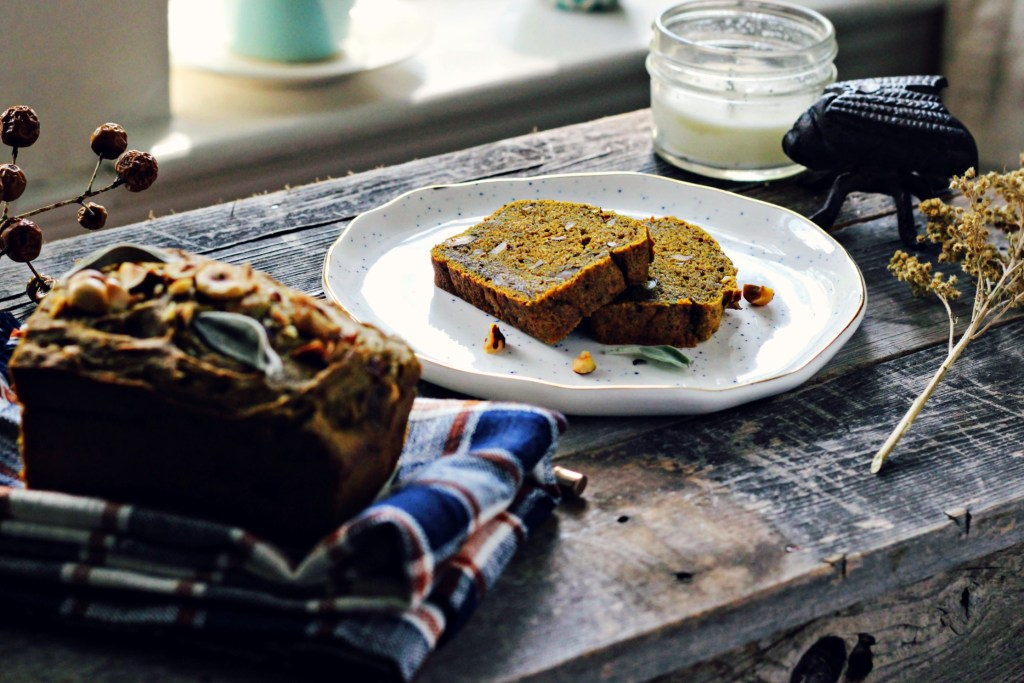 pumpkin bread with hazelnuts & sage | via sweet miscellany