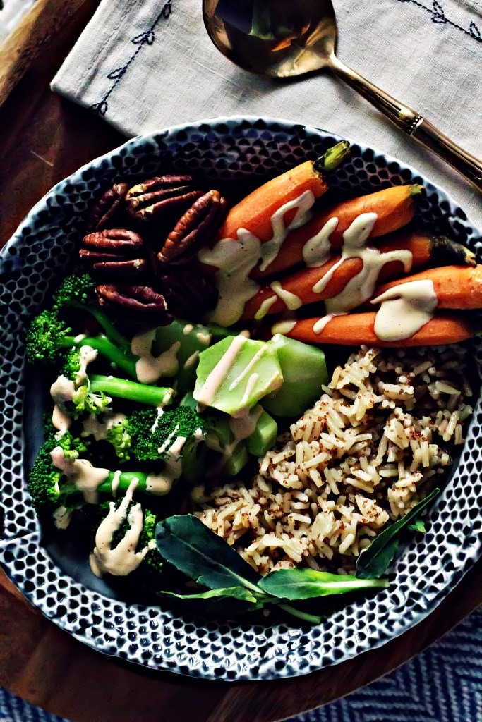 Weekly Meal Prep Tips + A Simple Grain Bowl with Lemon Cashew Miso Sauce   via Sweet Miscellany