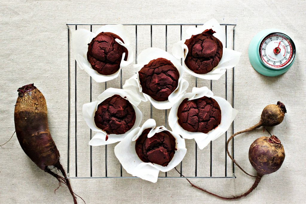 loam collaboration: cocoa beet muffins | plant based recipes via sweet miscellany