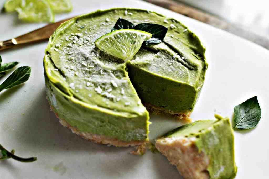 frozen mini mojito tart | plant based recipes via sweet miscellany