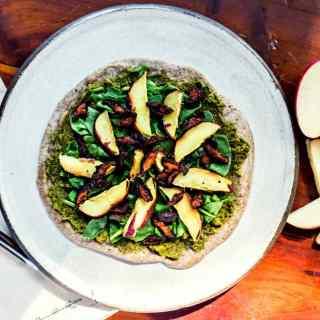 "buckwheat flatbread with shiitake ""bacon"" | plant based recipe via sweet miscellany"