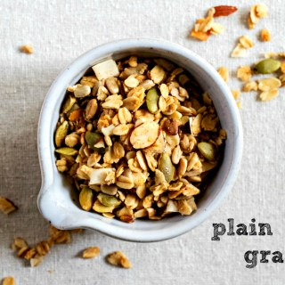 plain jane granola by sweet miscecllany