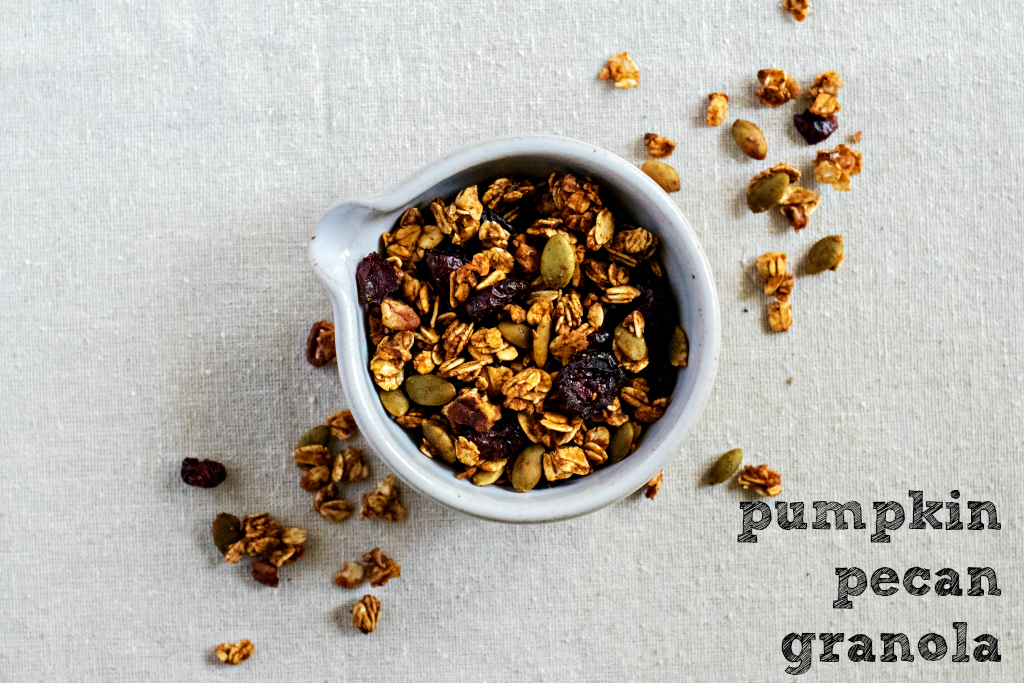 pumpkin pecan granola by sweet miscellany