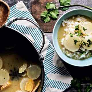 loam collaboration: miso braised daikon radish | plant based goodness via sweet miscellany