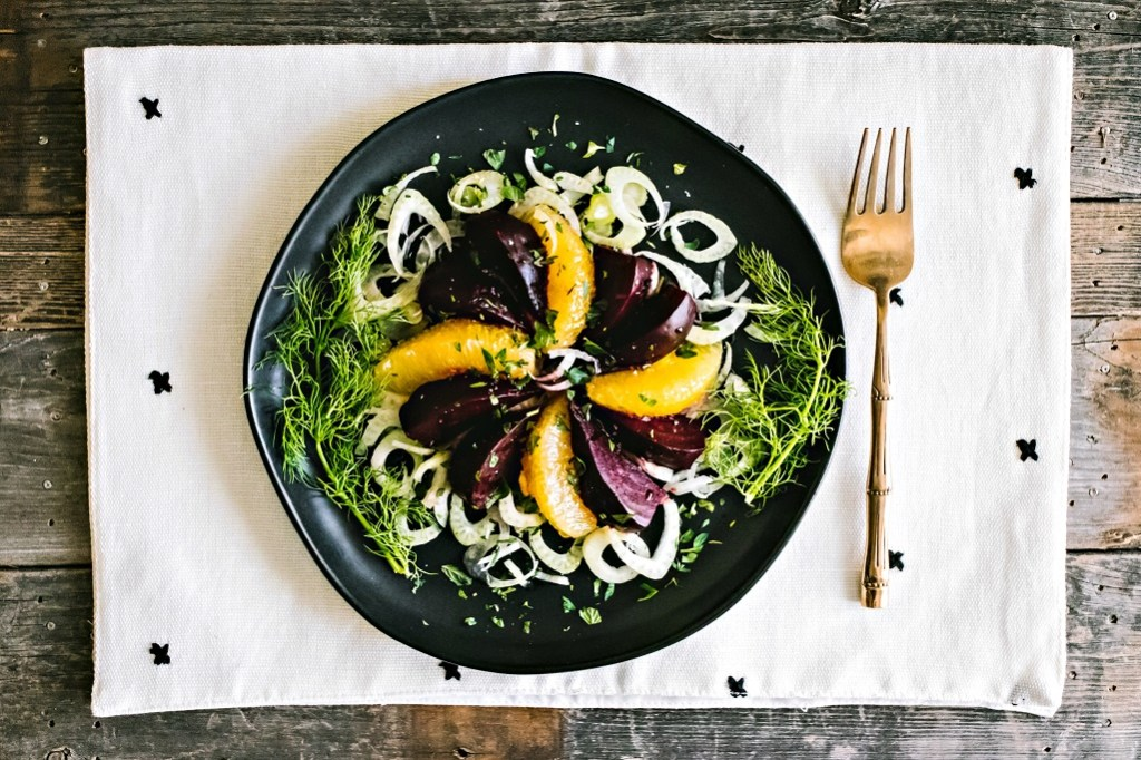 loam collaboration: beet, orange, & fennel salad | plant based goodness via the sweet miscellany blog