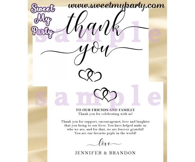 Rustic Wedding Thank You Card Invitation Insert 022w