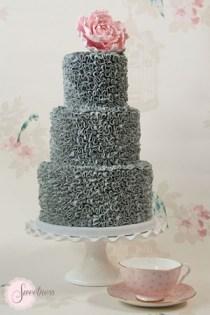 Cake shown serves 70