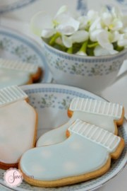 Baby Booties cookies, Baby shower cookies UK