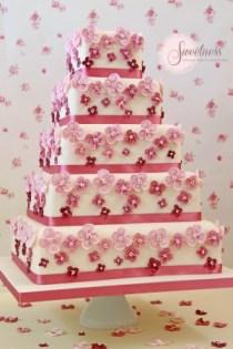 Hydrangea wedding cakes, London wedding cakes