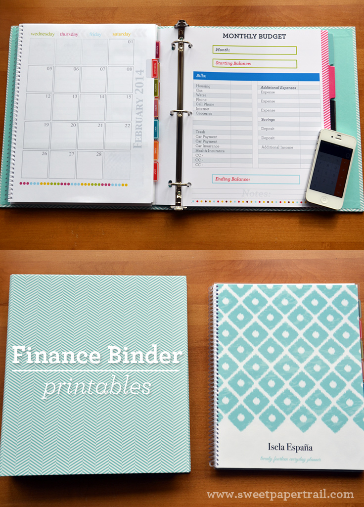 Our Finance Binder Sweet Paper Trail
