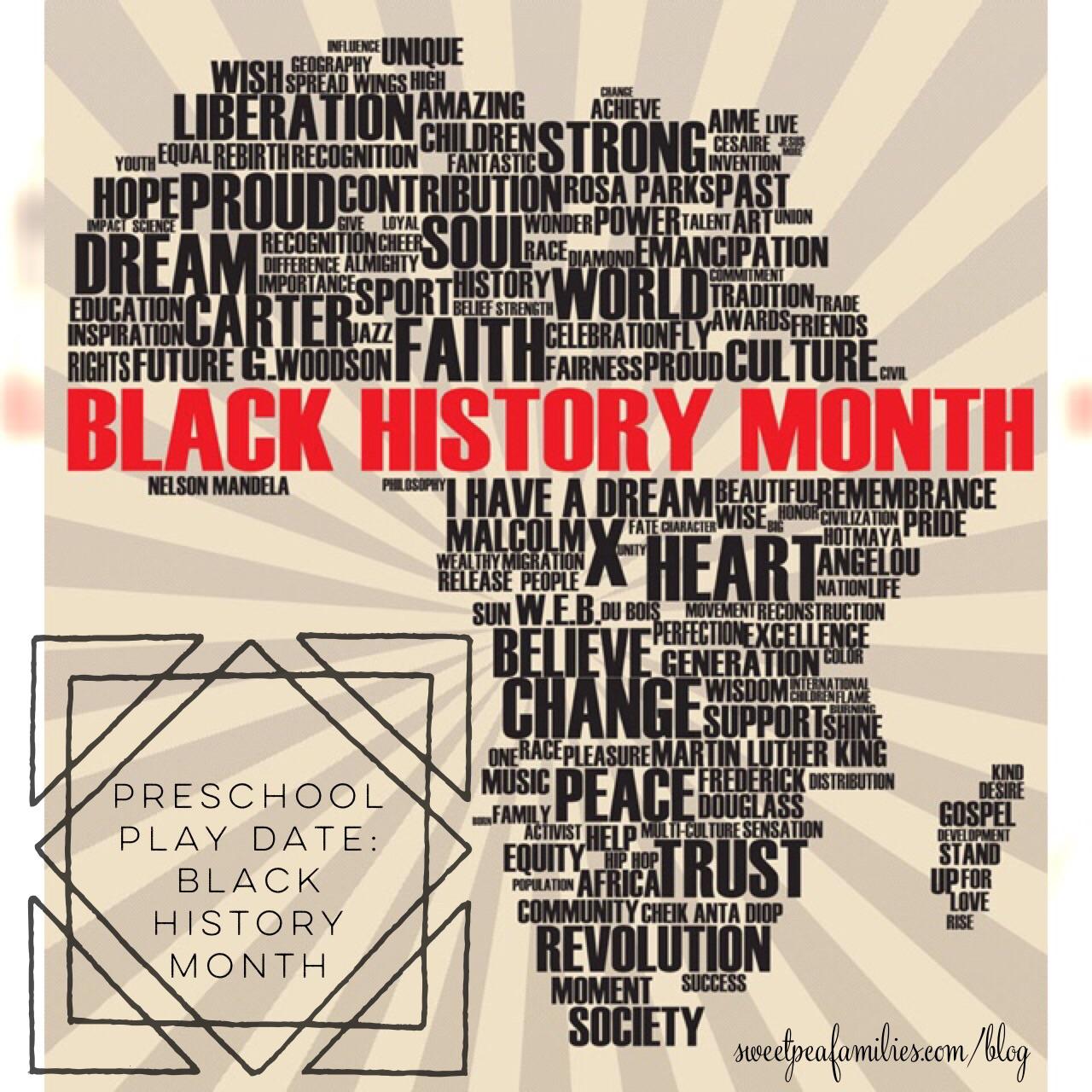 Preschool Playdate Black History Month