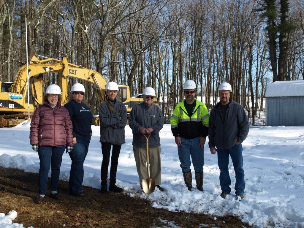 The Building Committee Celebrating Ground Breaking for the new shelter.