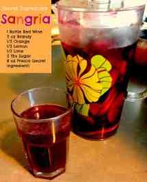 Red Sangria Recipe Ingredients