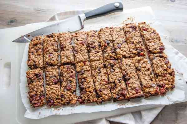 Peanut Butter Banana Chocolate Chip Granola Bars and road