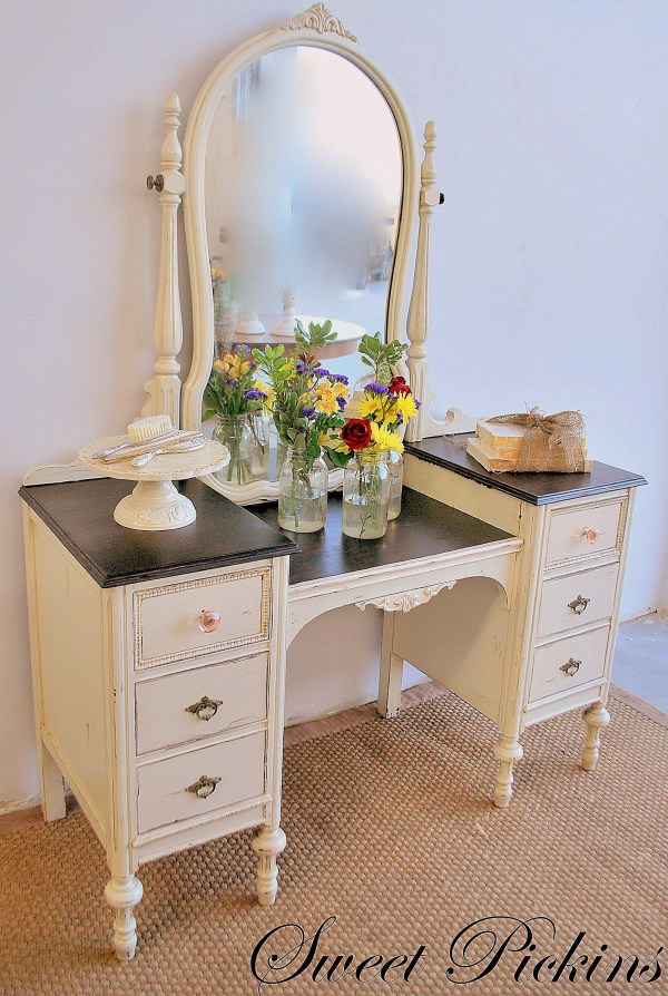 & Refinished Antique Vanity Sweet