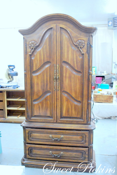 Before & After} – refinished armoire | Sweet Pickins Furniture