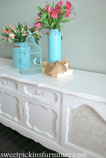Sweet Pickins Furniture - Record Cabinet in Sherwin Williams Dover White