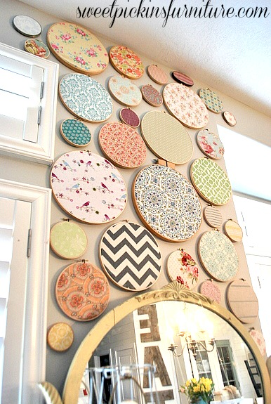 Sweet Pickins Embroidery Hoop Art