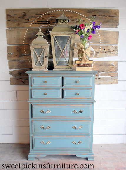 Milk Paint Dresser  Before  After  Sweet Pickins Furniture