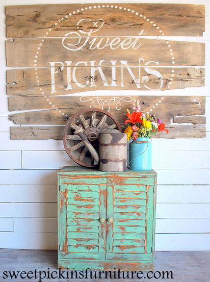 Sweet Pickins Furniture - Milk Paint Cabinet