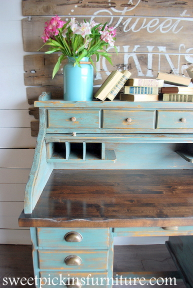 Sweet Pickins Furniture - Sea Green Milk Paint