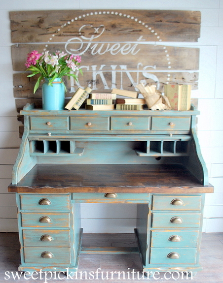 Before  After  Milk Paint Roll Top  Sweet Pickins