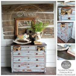 Sweet Pickins Milk Paint - Galvanized with clear wax