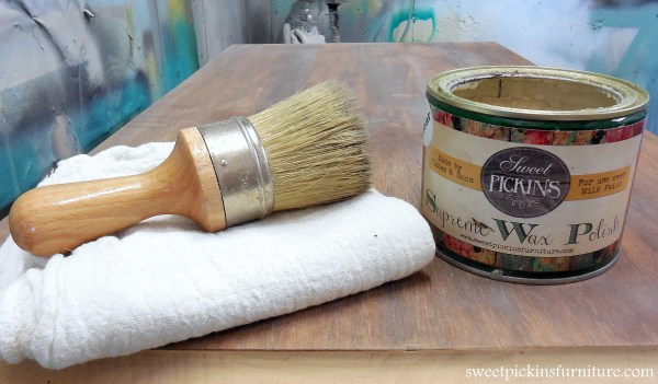 Sweet Pickins Milk Paint - how to wax milk paint