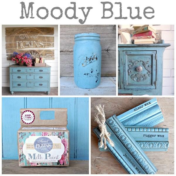 Sweet Pickins Milk Paint - Moody Blue