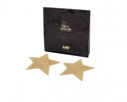 Bijoux Indiscrets Flash - Star Gold Nipple Covers